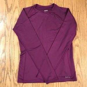 Purple Reebok long sleeve athletic top